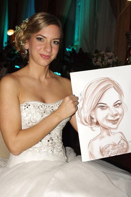 Karikaturista na svatbě karikatura